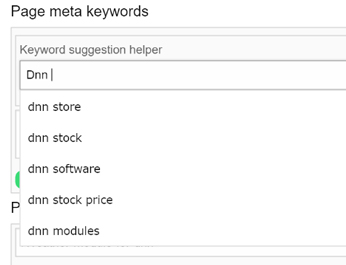 DnnC SEO ToolBox : Keyword suggestion tool